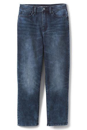 Taillenhohe Stove Pipe Jeans in Medium Rinse für Damen