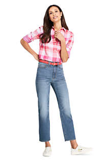 Women's High Rise Stove Pipe Ankle Jeans, Unknown