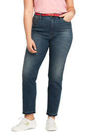 Women's Plus Size High Rise Stove Pipe Ankle Jeans