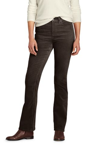 Women's Mid Rise Slim Leg Corduroy Pants