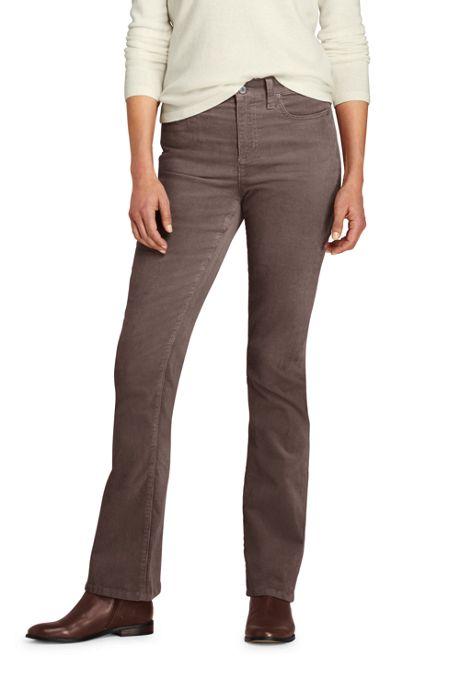 Women's Petite Mid Rise Corduroy Bootcut Pants