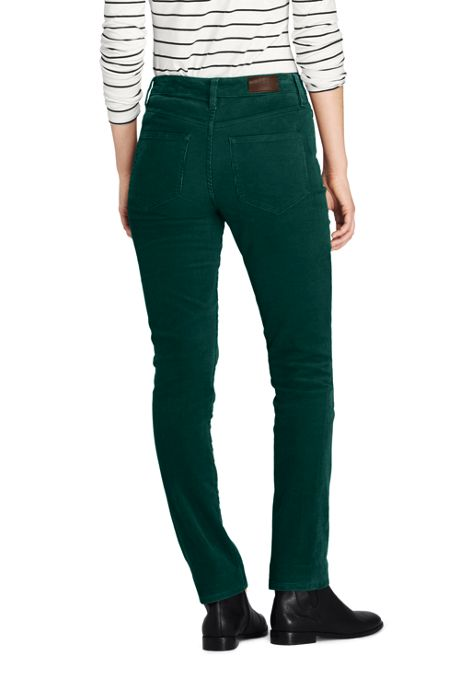 Women's Tall Mid Rise Straight Leg Corduroy Pants