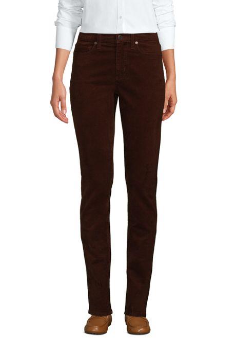 Women's Tall Mid Rise Straight Leg Corduroy Pants