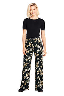 Women's Crepe Tailored Pants, Unknown