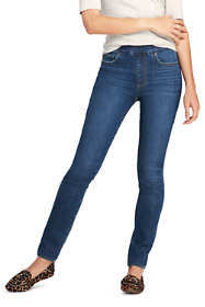 Women's Tall Pull On Skinny Blue Jeans