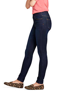 Women's Tall Elastic Waist Pull On Skinny Legging Jeans - Blue, Unknown