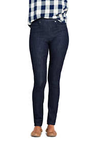 Women's Elastic Waist Pull On Skinny Legging Jeans - Blue