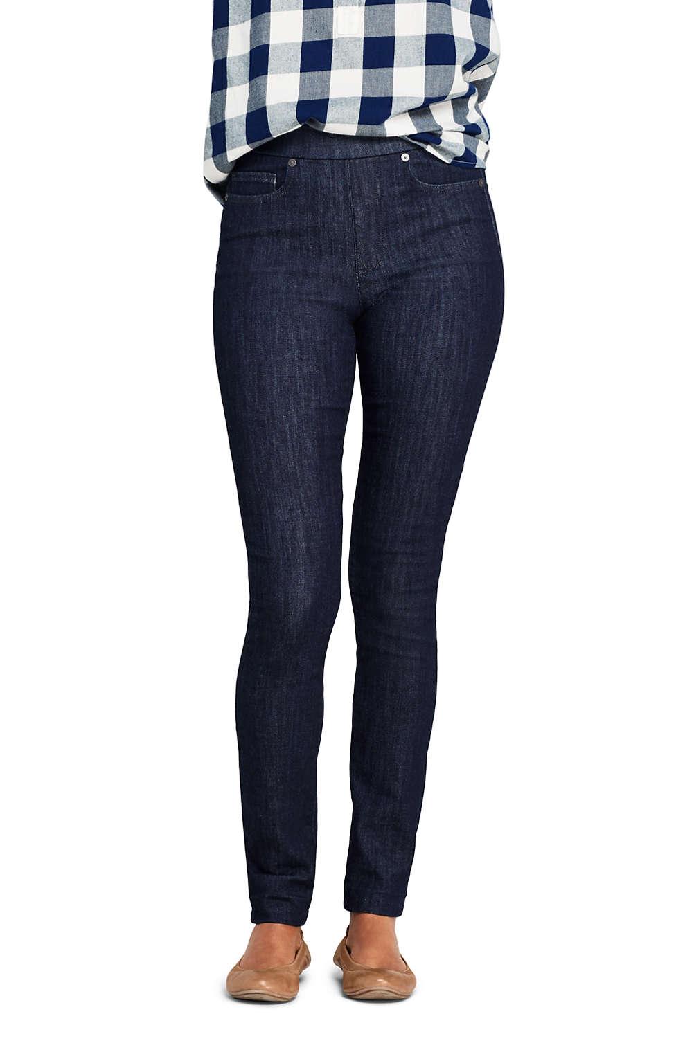 buy popular c6b6b f0dde Women's Elastic Waist Pull On Skinny Legging Jeans - Blue