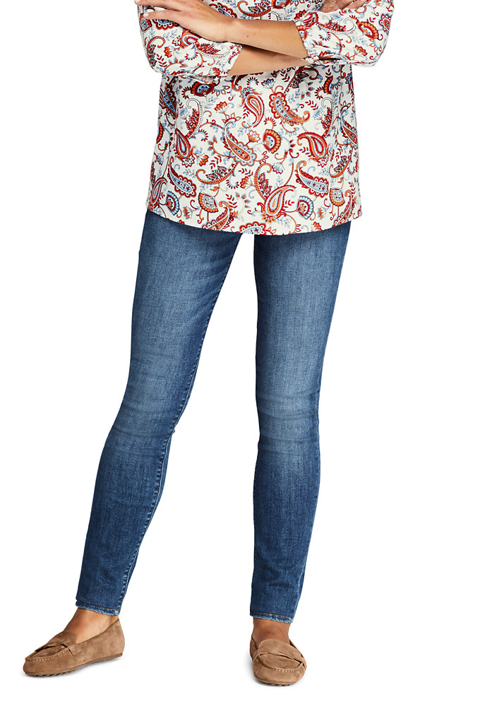 Women's Elastic Waist Pull On Skinny Legging Jeans