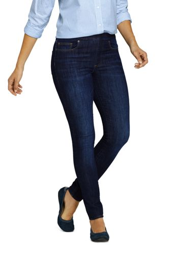 Women's Petite High Waisted Pull-on Legging Jeans, Indigo