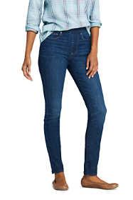 Women's Elastic Waist Pull On Skinny Legging Jeans - Blue