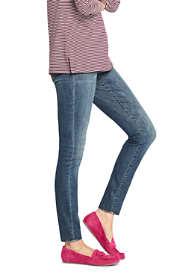 Women's Tall Elastic Waist Pull On Skinny Legging Jeans - Blue