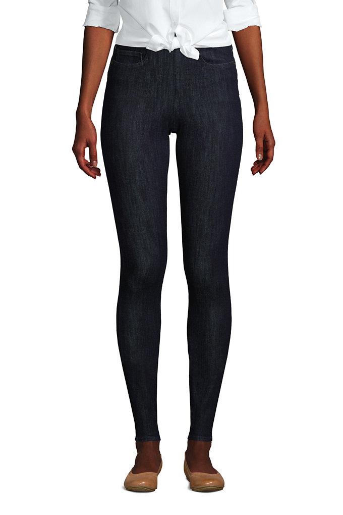 Women's Elastic Waist Pull On Skinny Legging Jeans