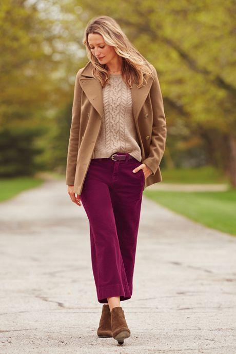 Women's Wide Wale Corduroy Crop Pants