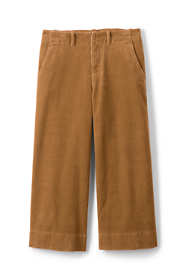Women's Petite Wide Wale Corduroy Crop Pants