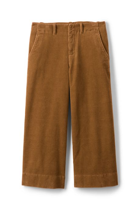 Women's Plus Size Wide Wale Corduroy Crop Pants