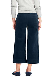 Women's Tall Wide Wale Corduroy Crop Pants, Back