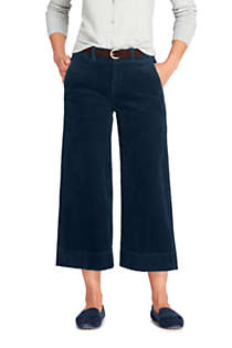 Women's Tall Wide Wale Corduroy Crop Pants, Front