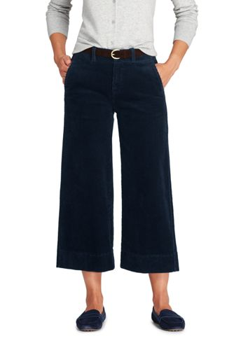 Women's Plus Size Matte Jersey Wide Leg Crop Pants