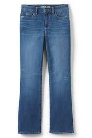 Women's Plus Size Mid Rise Boot Cut Jeans - Blue