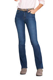 Women's Mid Rise Boot Cut Blue Jeans