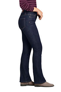 Women's Mid Rise Bootcut Blue Jeans , alternative image