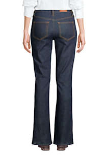 Women's Mid Rise Bootcut Blue Jeans , Back