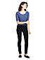 Women's Petite Pull-on Skinny Jeans in Black