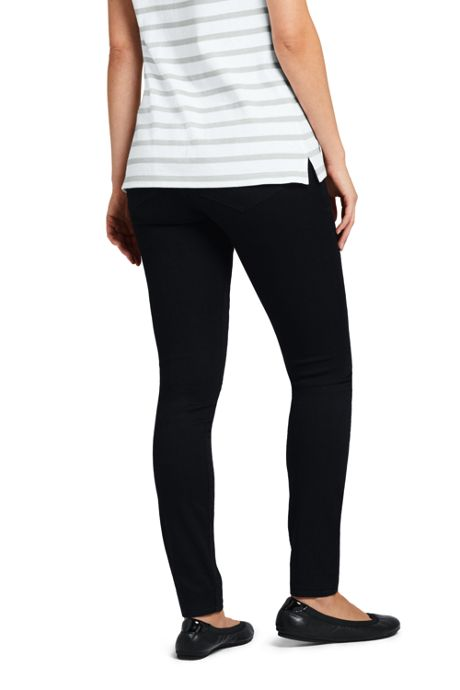Women's Pull On Skinny Black Jeans