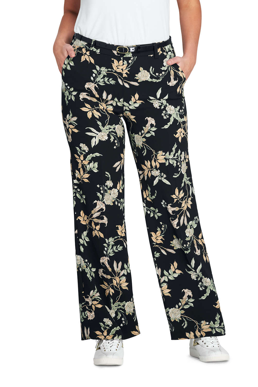 62270ddc2c7 Women s Plus Size Crepe Tailored Pants from Lands  End