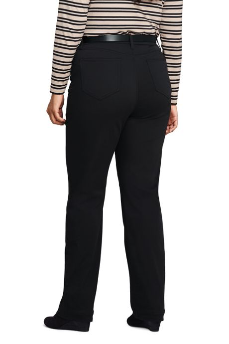 Women's Plus Size High Rise Straight Leg Black Jeans