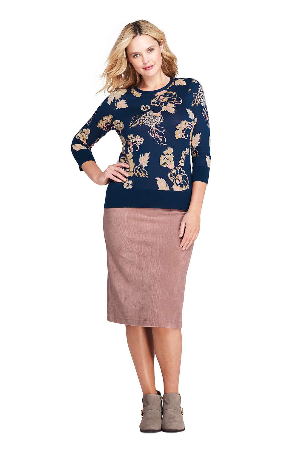 319c8ba1080dd Women s Plus Size Sport Cord Skirt from Lands  End