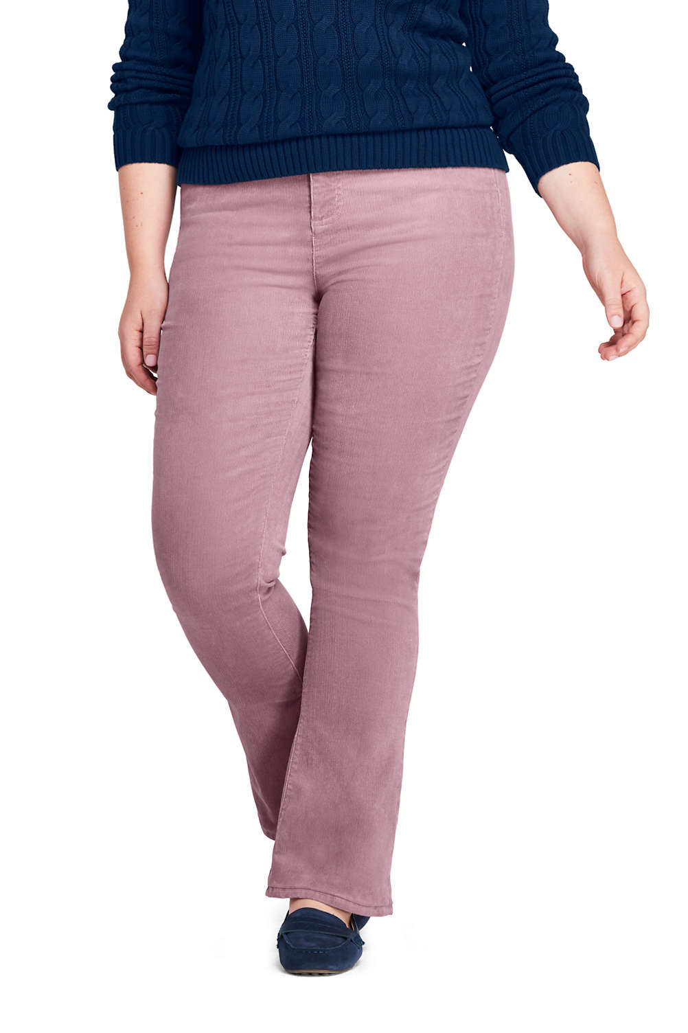 dacf43a423a Women s Plus Size Mid Rise Corduroy Bootcut Pants from Lands  End