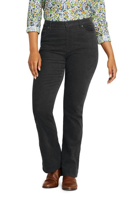Women's Plus Size Mid Rise Corduroy Bootcut Pants