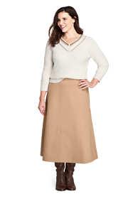 Women's Plus Size Ponte Knit Boot Midi Skirt