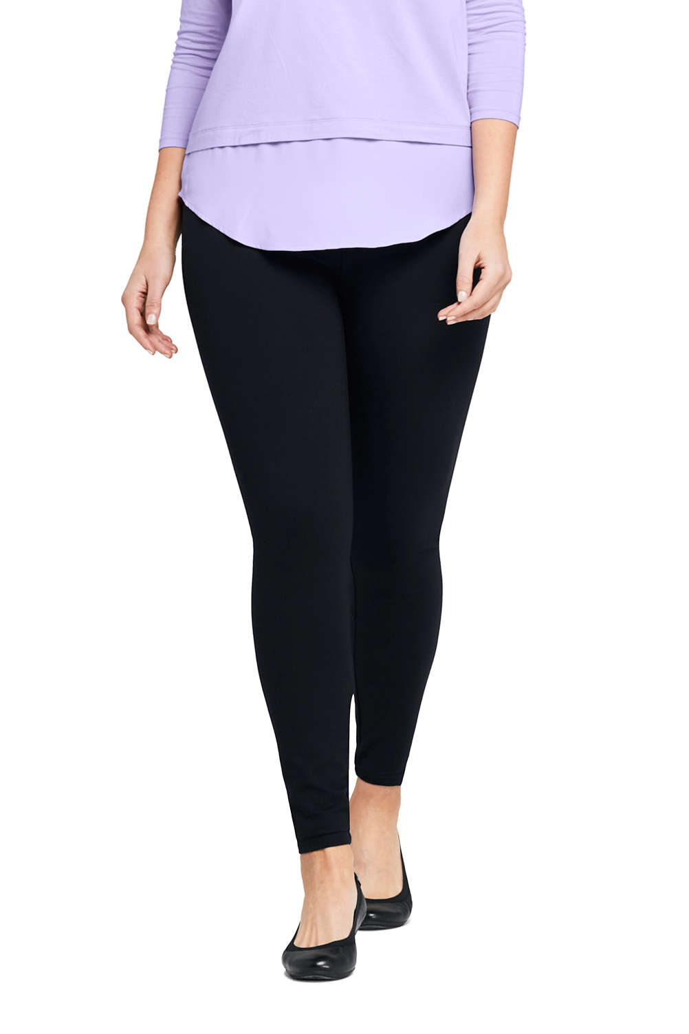 1d1662564d7 Women s Plus Size Ponte Seamless Leggings from Lands  End
