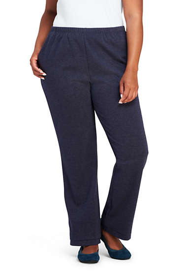 ff7bde294815d Women s Plus Size Sport Knit Elastic Waist Pants High Rise from Lands  End