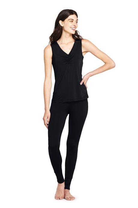 Women's Petite Base Layer Long Underwear Thermaskin Heat V-Neck Tank Top