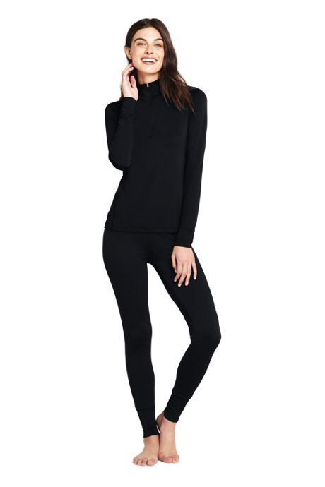 Women's Base Layer Long Underwear Thermaskin™ Heat Half Zip
