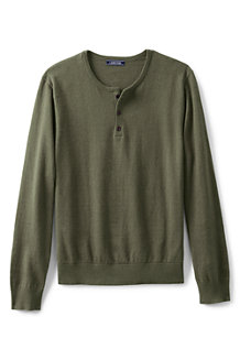Men's Cotton/cashmere Henley Jumper