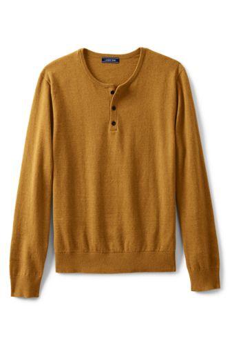 Men's Cotton/cashmere Henley Jumper