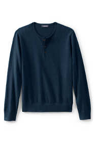 Men's Cotton Cashmere Henley Sweater
