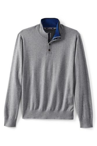 Men's Cotton/cashmere Polo Neck Jumper