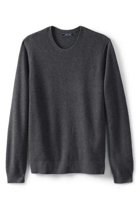 Men's Performance Texture Merino Crew Sweater with Side Vent
