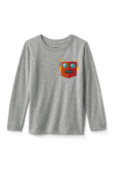 Little Boys Pocket Graphic Tee Shirt