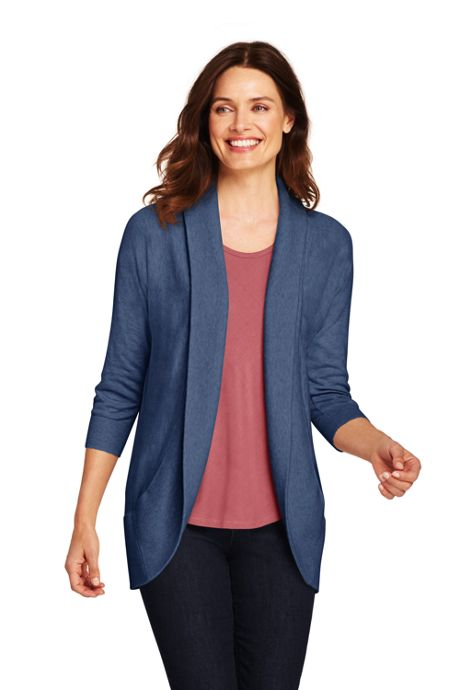 Women's Tall 3/4 Sleeve Cocoon Cardigan Sweater