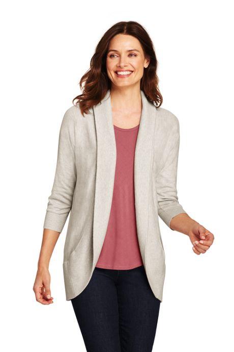 Women's 3/4 Sleeve Cocoon Cardigan Sweater