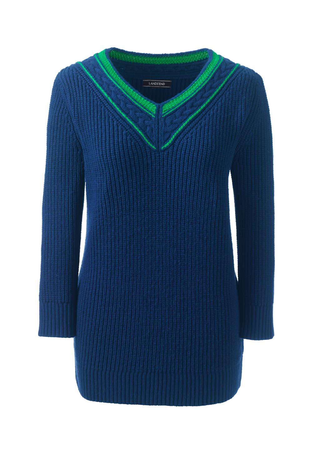 99a81dc910 Women s Lofty Blend 3 4 Sleeve V-neck Sweater from Lands  End