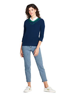 Women's Lofty Blend 3/4 Sleeve V-neck Sweater, Unknown