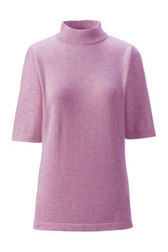 Supima-Pullover mit Stehkragen für Damen in Normalgröße